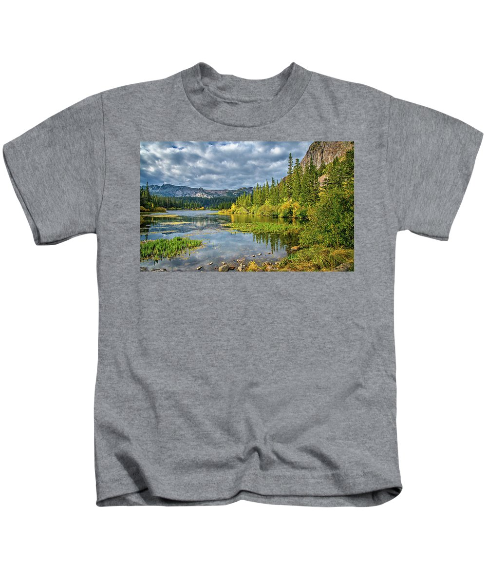 Twin Lakes Kids T-Shirt featuring the photograph Incoming Storm At Twin Lakes by Lynn Bauer