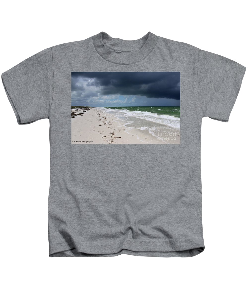 Beach Kids T-Shirt featuring the photograph Incoming Storm by Barbara Bowen