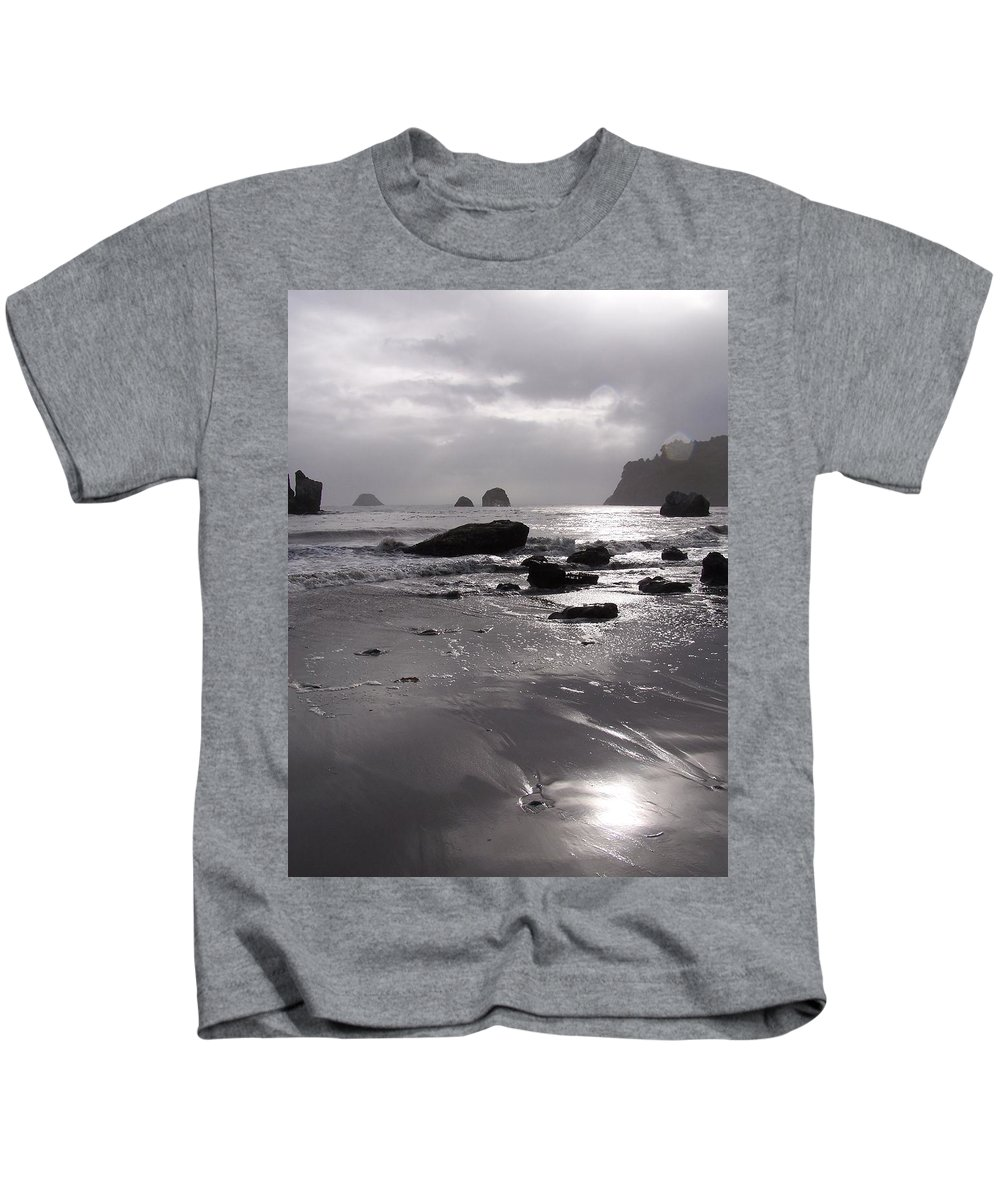 Beach Kids T-Shirt featuring the photograph Indian Beach by Gale Cochran-Smith