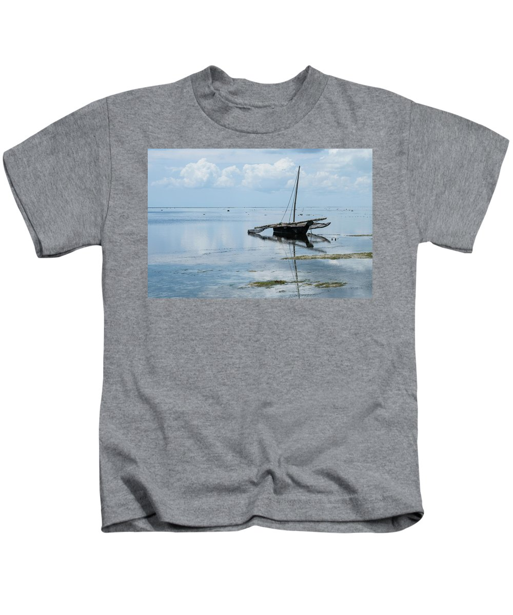 Indian Ocean Kids T-Shirt featuring the photograph Indian Ocean At Lowtide by William Morgan