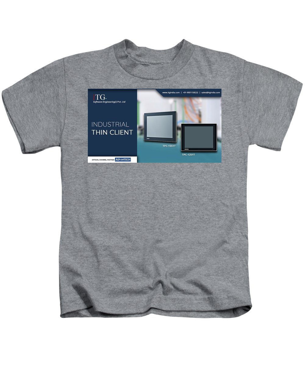 Panel Pc Kids T-Shirt featuring the photograph Industrial Thin Client - Itg India by iTG India