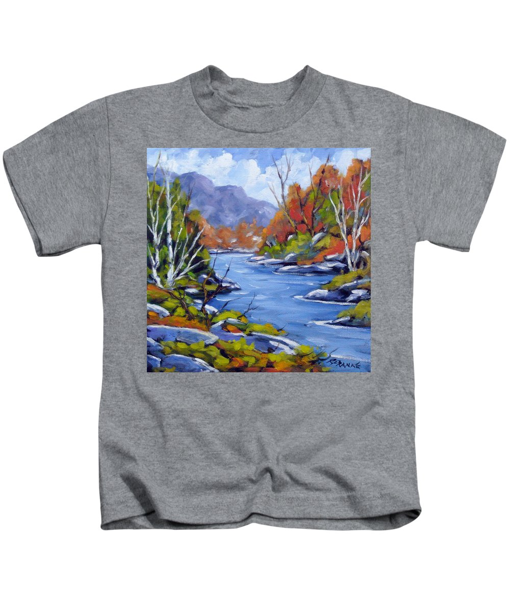 Art Kids T-Shirt featuring the painting Inland Water by Richard T Pranke