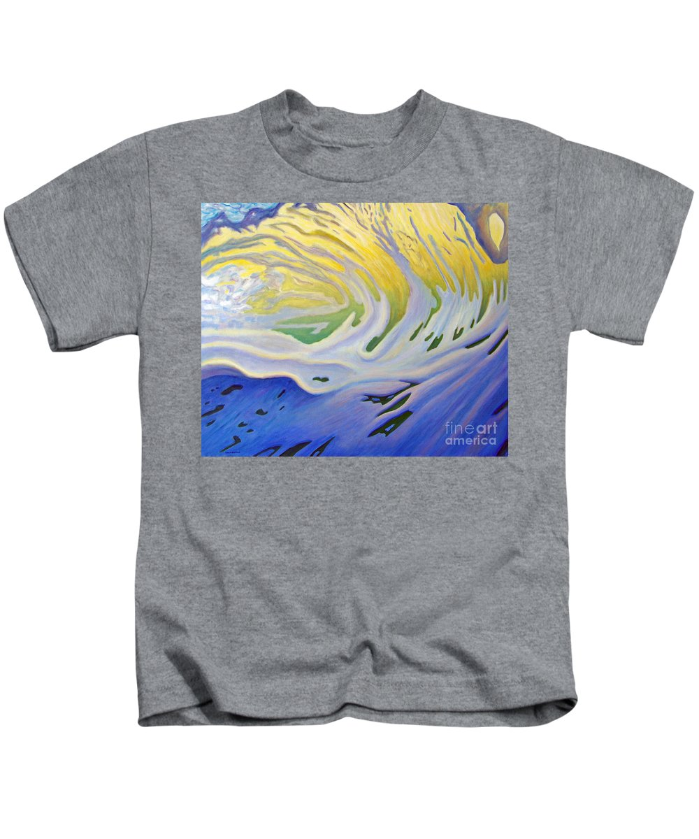 Ocean Kids T-Shirt featuring the painting Inner Ocean - Joy by Brian Commerford