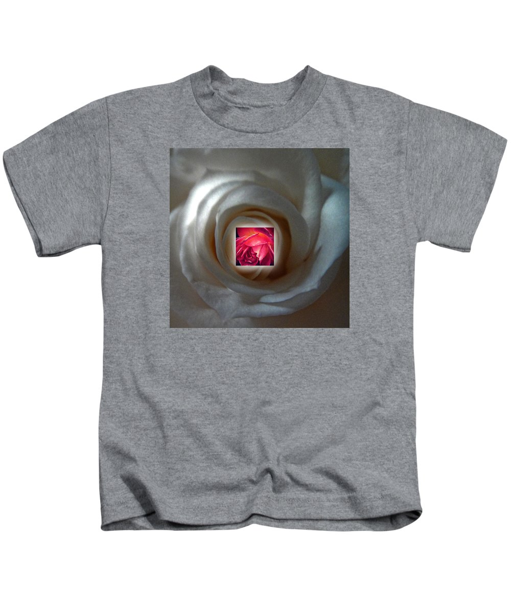 Rose Kids T-Shirt featuring the photograph Inner Rose by Mykel Davis