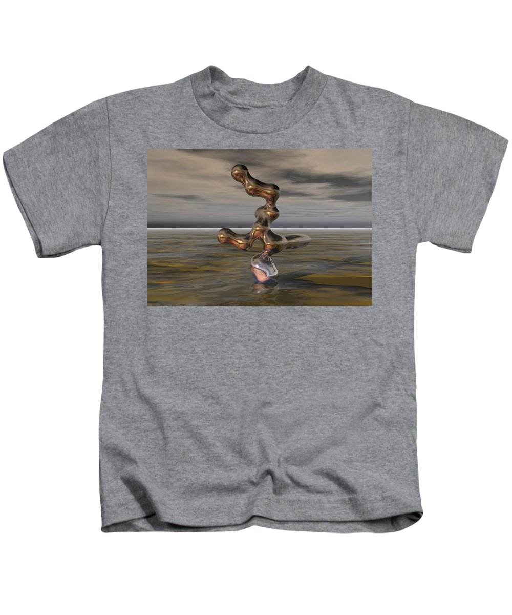 Digital Painting Kids T-Shirt featuring the digital art Innovation The Leap Of Imagination by David Lane