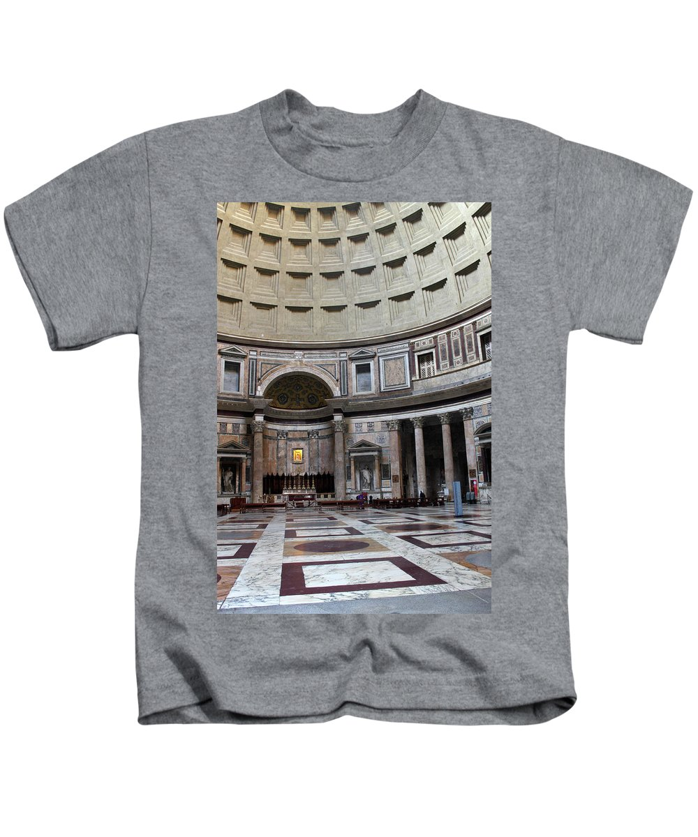 Inside Kids T-Shirt featuring the photograph Inside The Pantheon by Munir Alawi