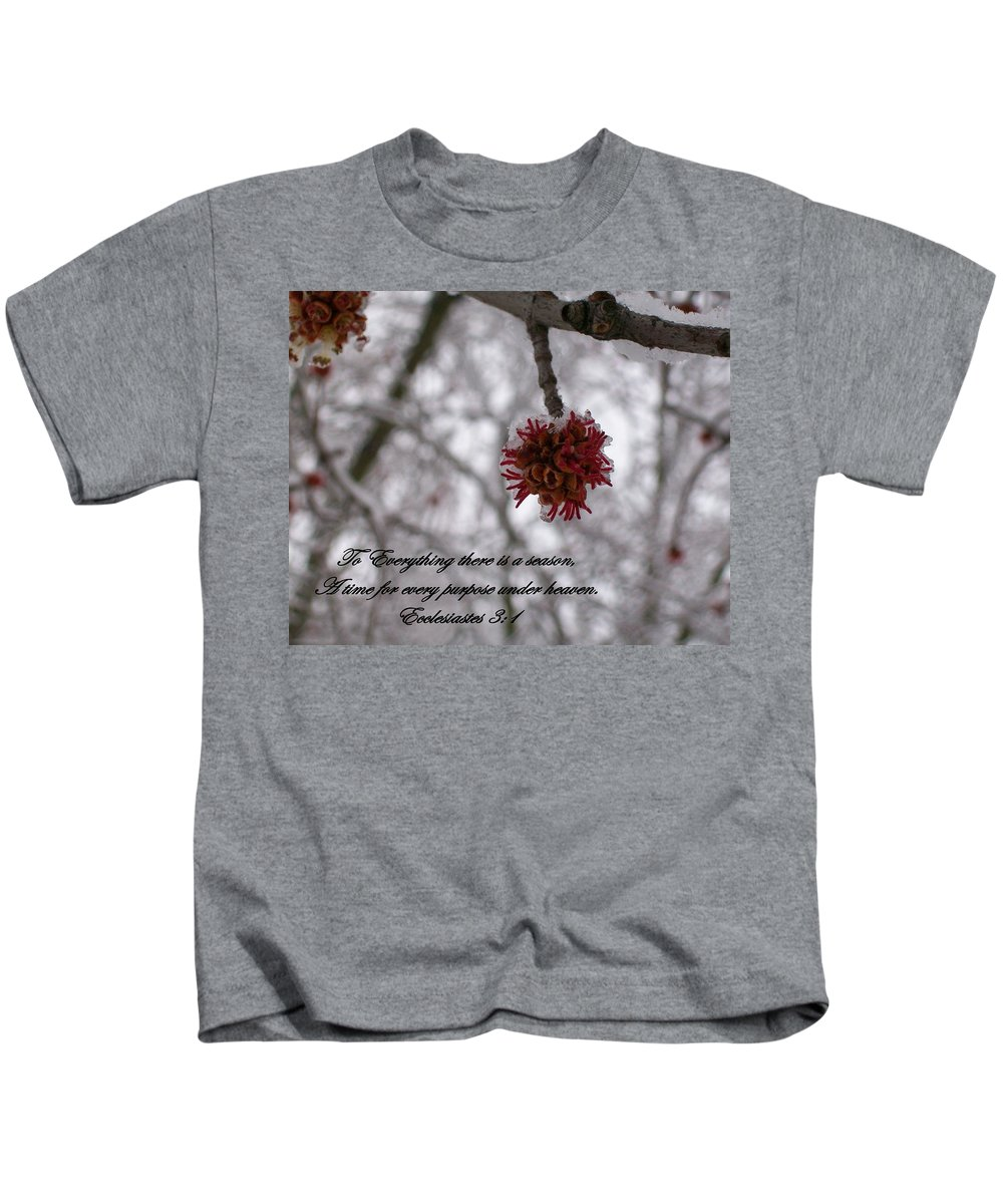 Ice Kids T-Shirt featuring the photograph Inspirations 11 by Sara Raber
