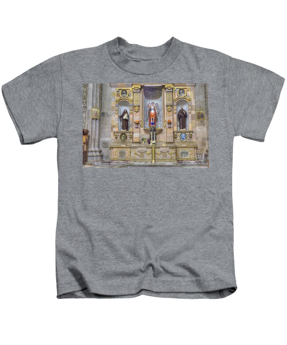 Decoration Kids T-Shirt featuring the photograph Interior View Of Church In Guanajuato Mexico by Juli Scalzi