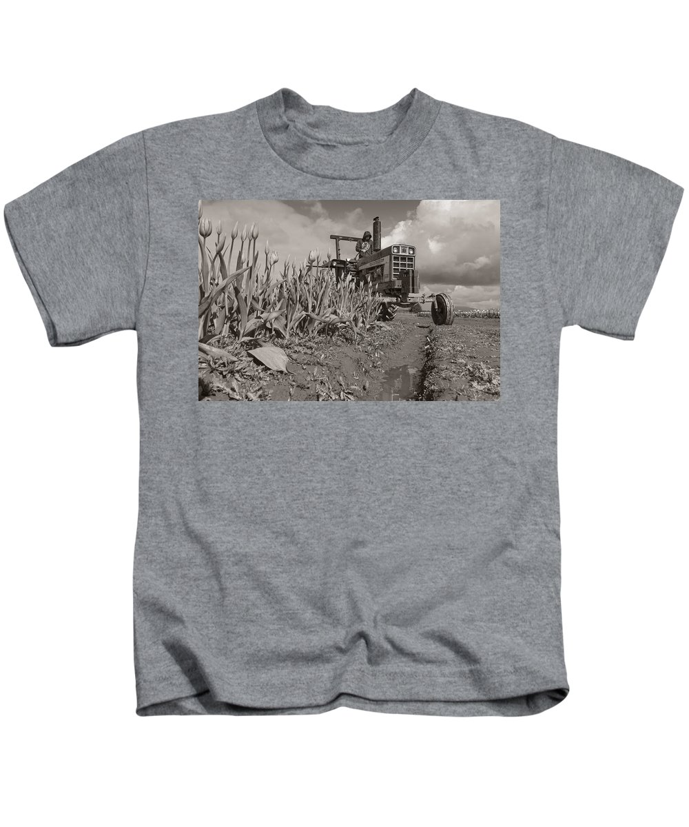 Tractor Kids T-Shirt featuring the photograph International by NorthSound Gallery
