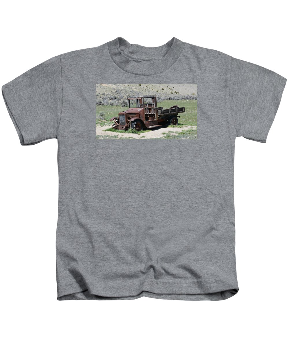 Antique Kids T-Shirt featuring the photograph International Truck by Whispering Peaks Photography