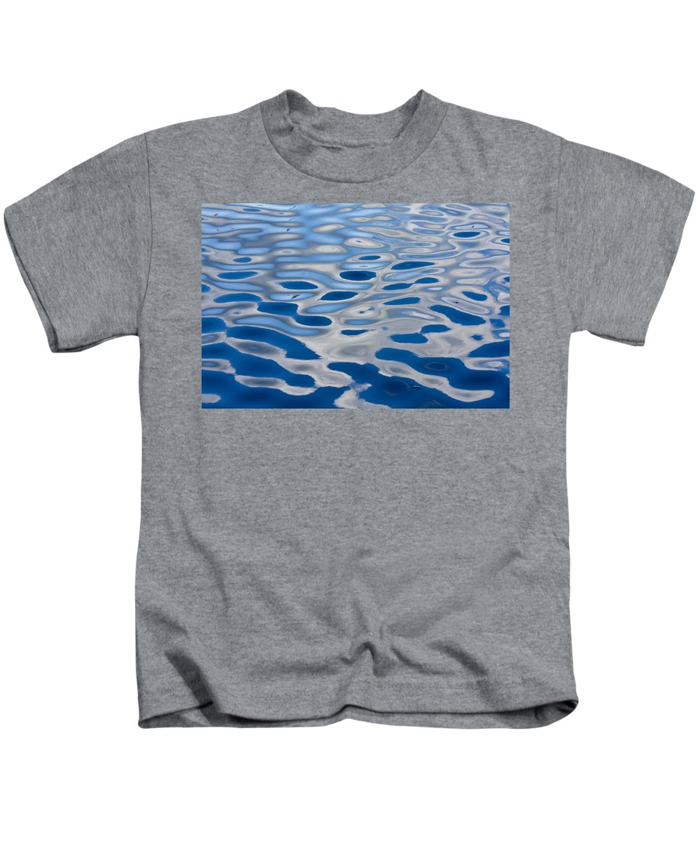 Reflection Kids T-Shirt featuring the photograph Into The Blue by Casper Cammeraat