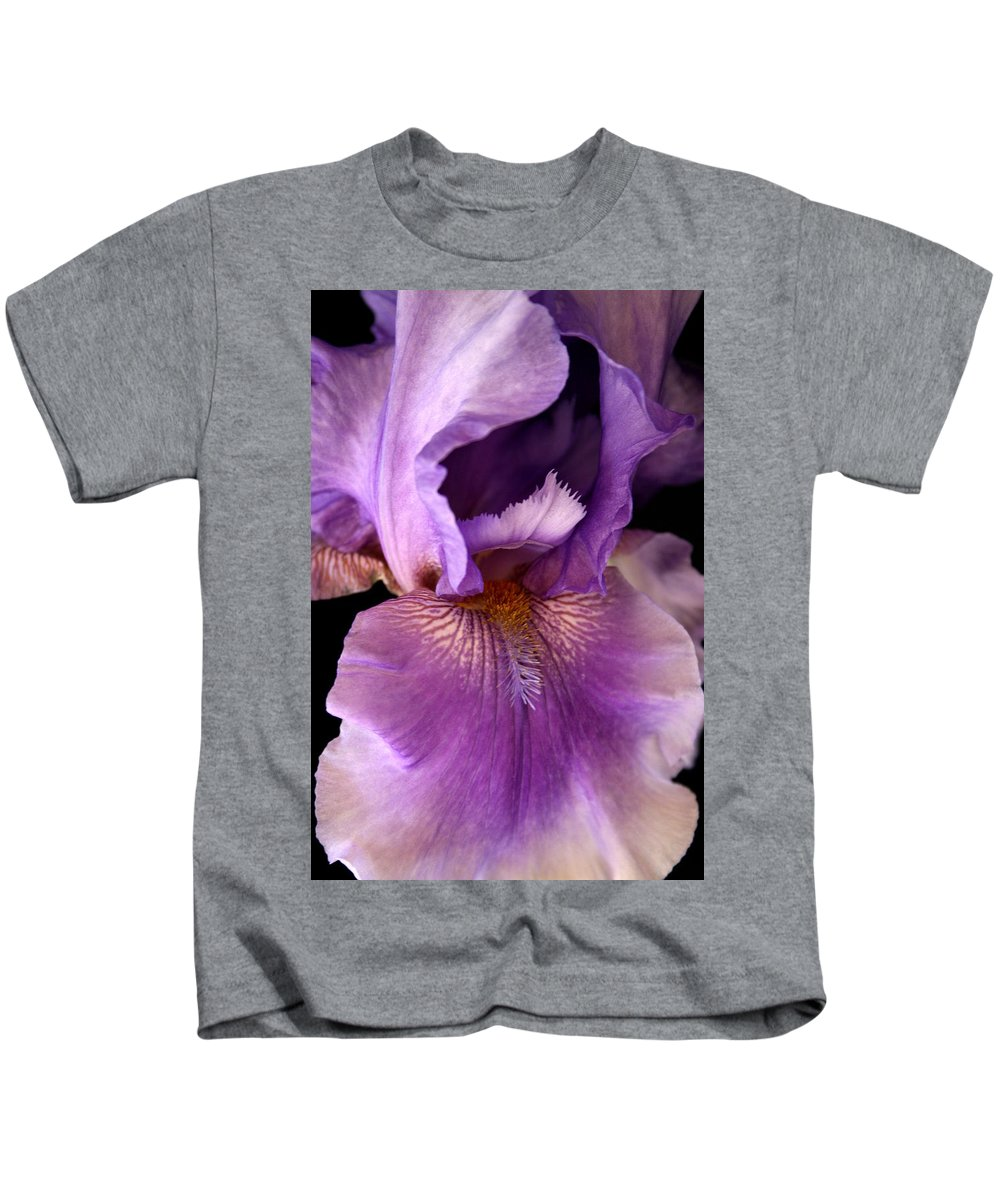 Iris Kids T-Shirt featuring the photograph Iris by Marna Edwards Flavell