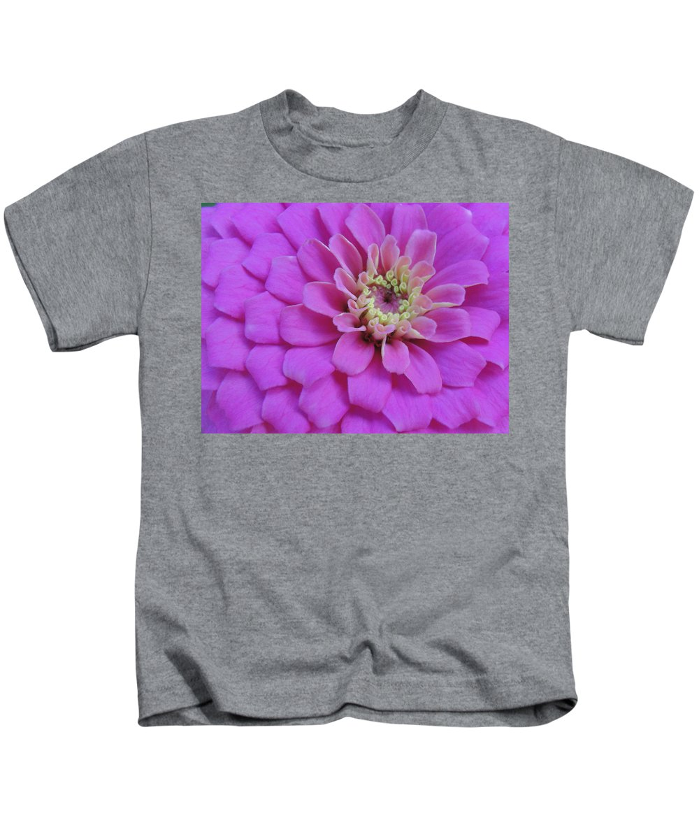 Pink Kids T-Shirt featuring the photograph Irridescent Pink by Cathi Abbiss Crane