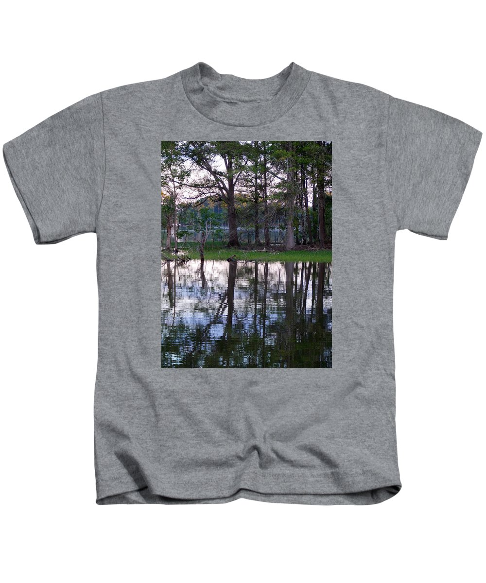 Scenic Tours Kids T-Shirt featuring the photograph Island Reflections by Skip Willits