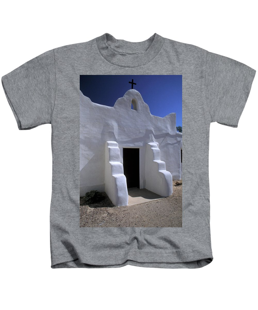Adobe Kids T-Shirt featuring the photograph Isleta by Jerry McElroy