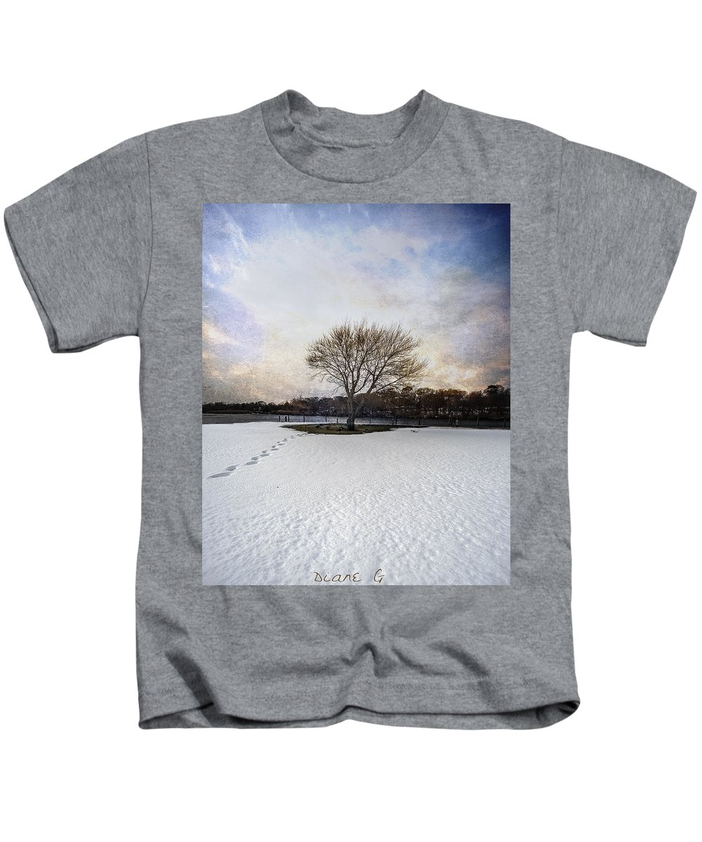 Isolation Kids T-Shirt featuring the photograph Isolation by Diane Giurco