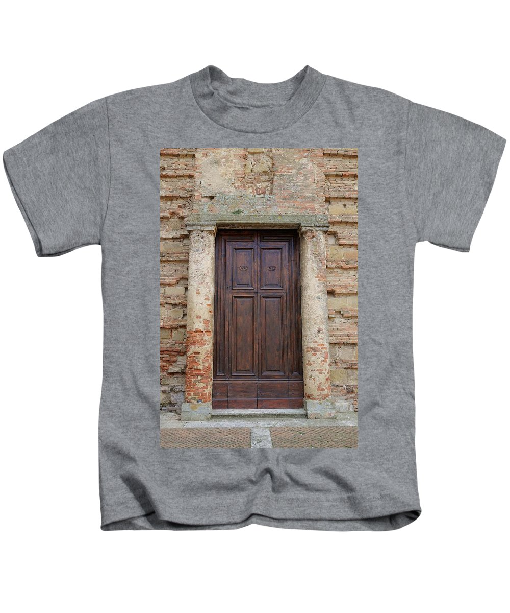 Europe Kids T-Shirt featuring the photograph Italy - Door Nineteen by Jim Benest