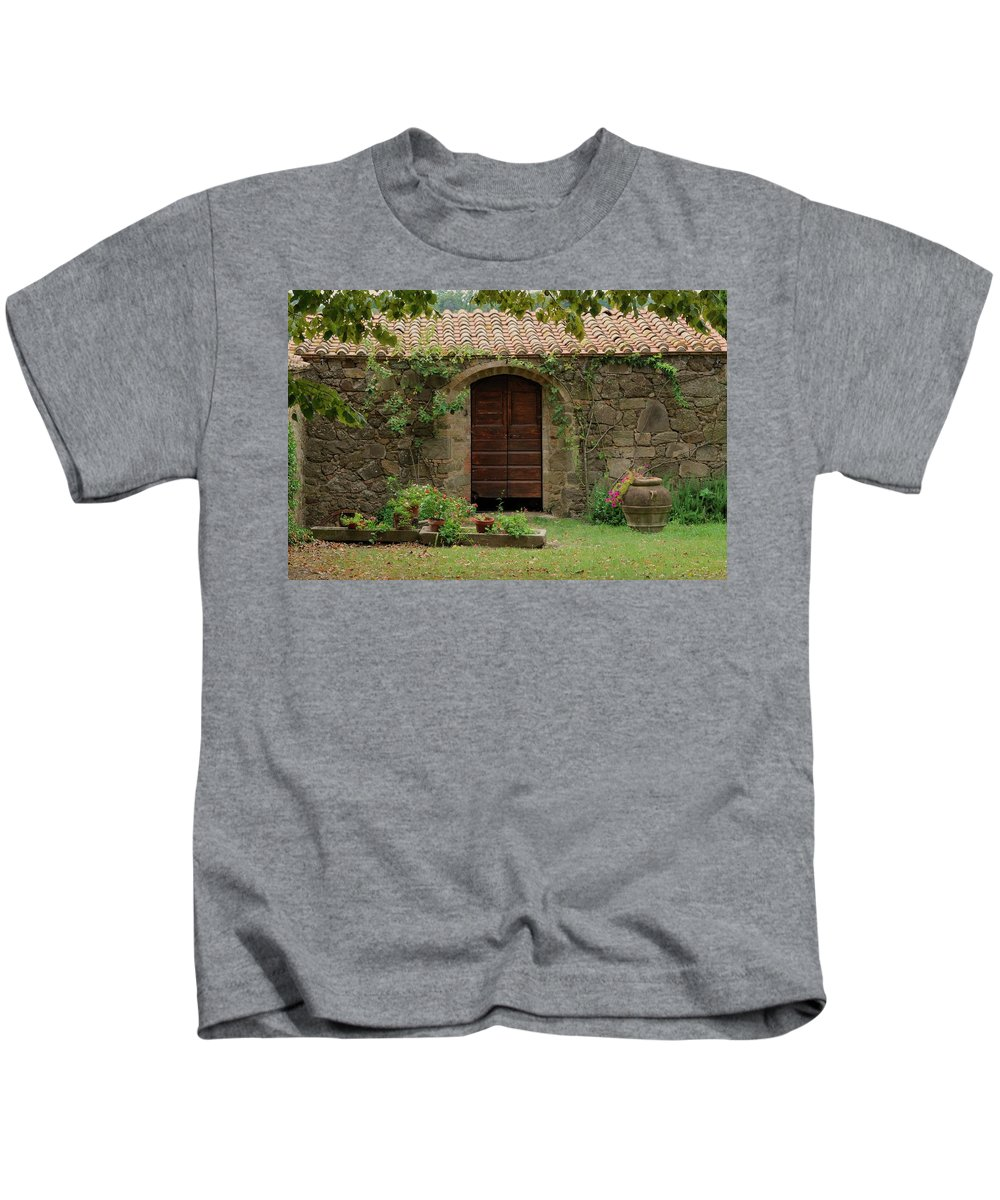 Italy Kids T-Shirt featuring the photograph Italy Door Twenty Four by Jim Benest