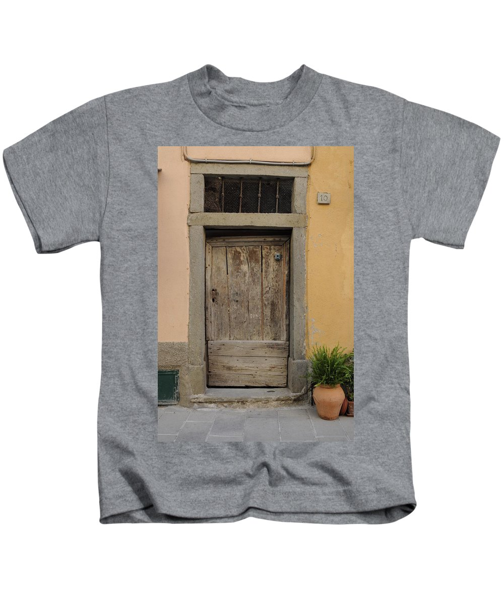 Europe Kids T-Shirt featuring the photograph Italy - Door Twenty Three by Jim Benest