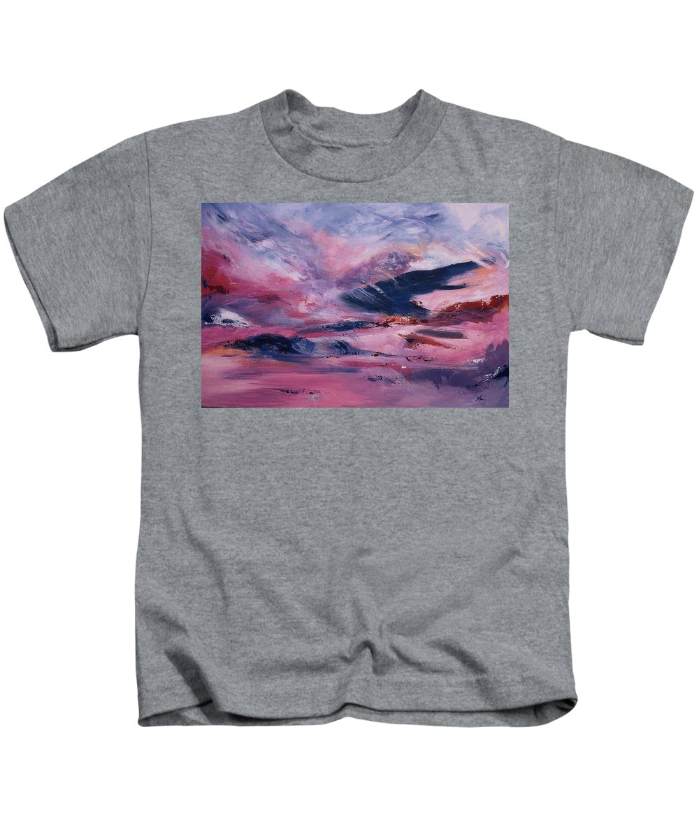 Abstract Kids T-Shirt featuring the painting I've Liked by Melody Horton Karandjeff