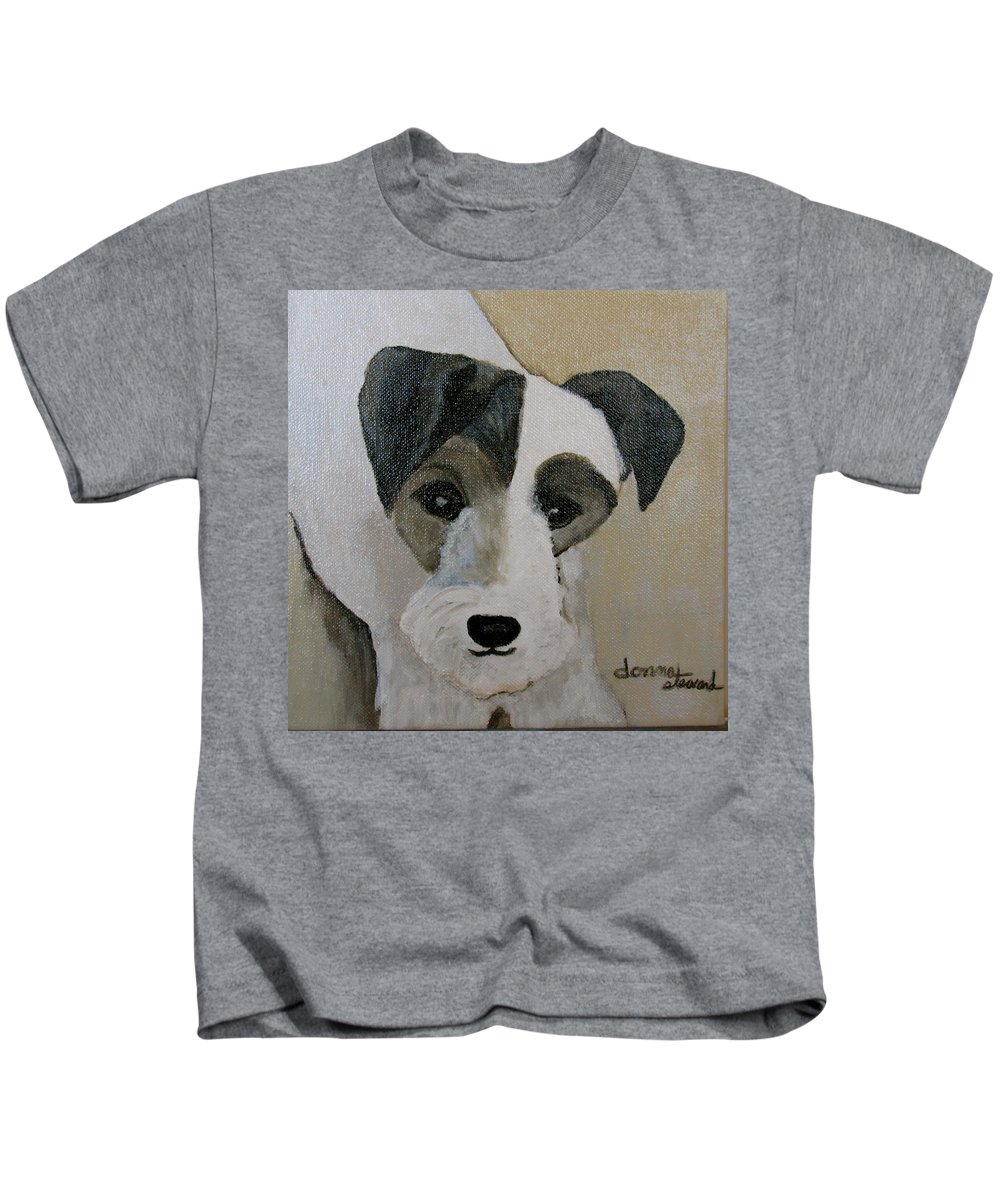 Acrylic Kids T-Shirt featuring the painting Jack by Donna Steward