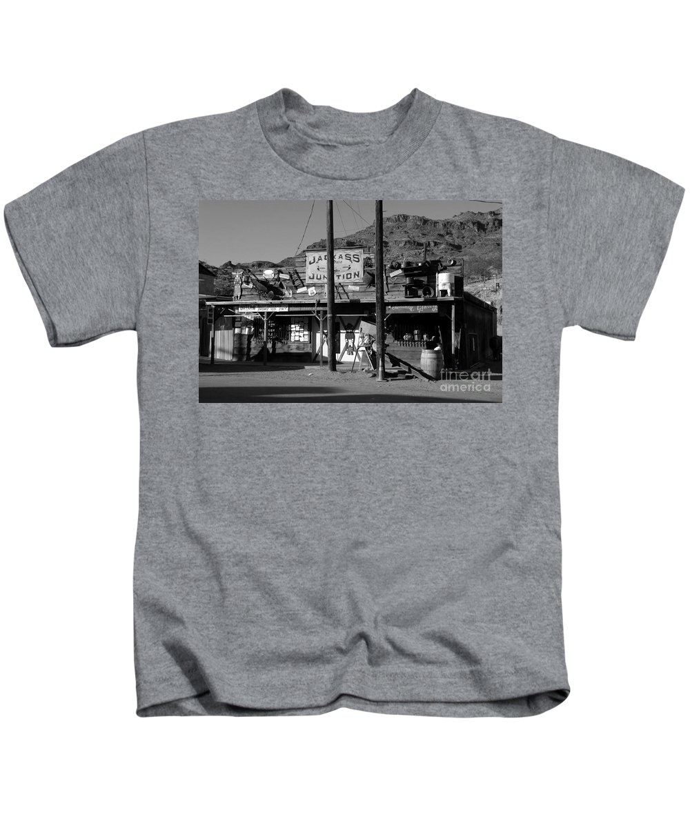 Arizona Kids T-Shirt featuring the photograph Jackass Junction by David Lee Thompson