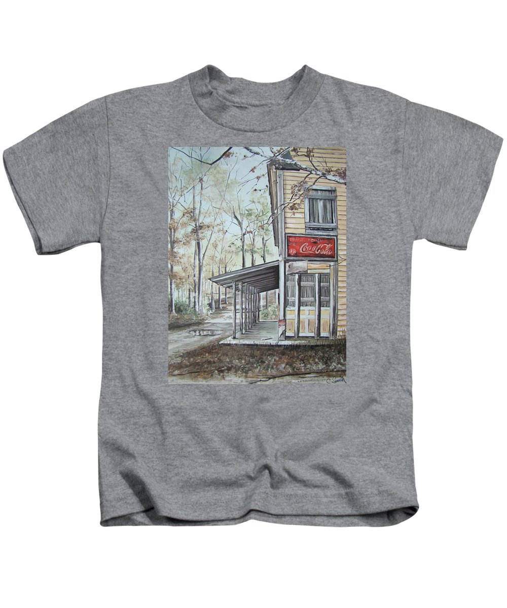 Charles Roy Smith Kids T-Shirt featuring the painting Jackson Springs by Charles Roy Smith