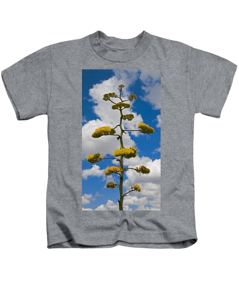 Blue Kids T-Shirt featuring the photograph Jacobs Ladder by Skip Hunt