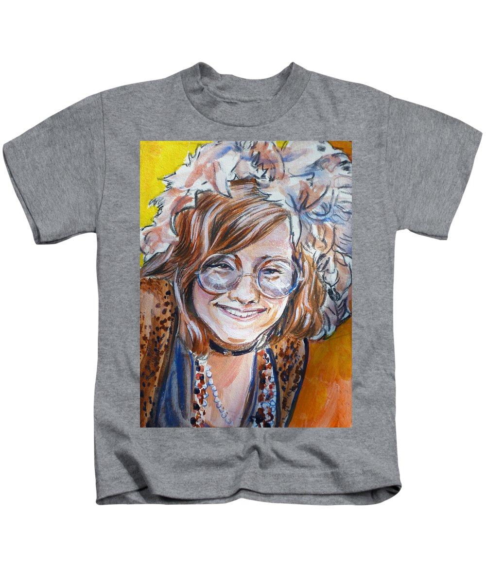 Janis Joplin Kids T-Shirt featuring the painting Janis Joplin by Bryan Bustard