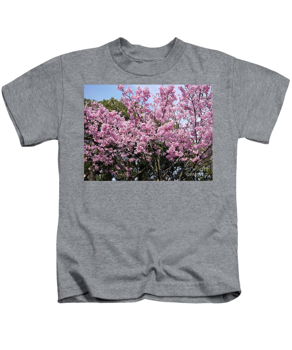 Tokyo Kids T-Shirt featuring the photograph Japan Blossoms by Moshe Torgovitsky