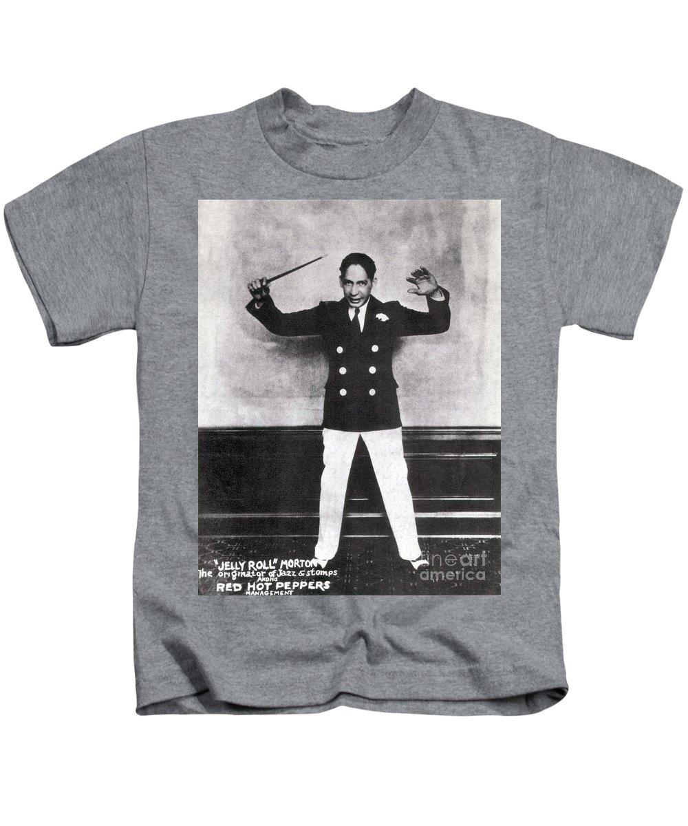 Harlem Renaissance Kids T-Shirt featuring the photograph Jelly Roll Morton ec54087055a