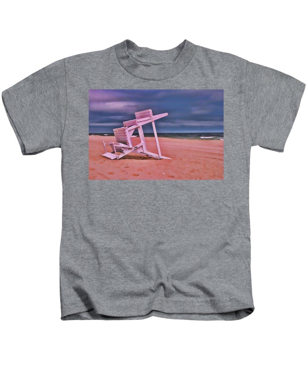 Island Beach State Park Kids T-Shirt featuring the photograph Jersey Shore 2 by Allen Beatty