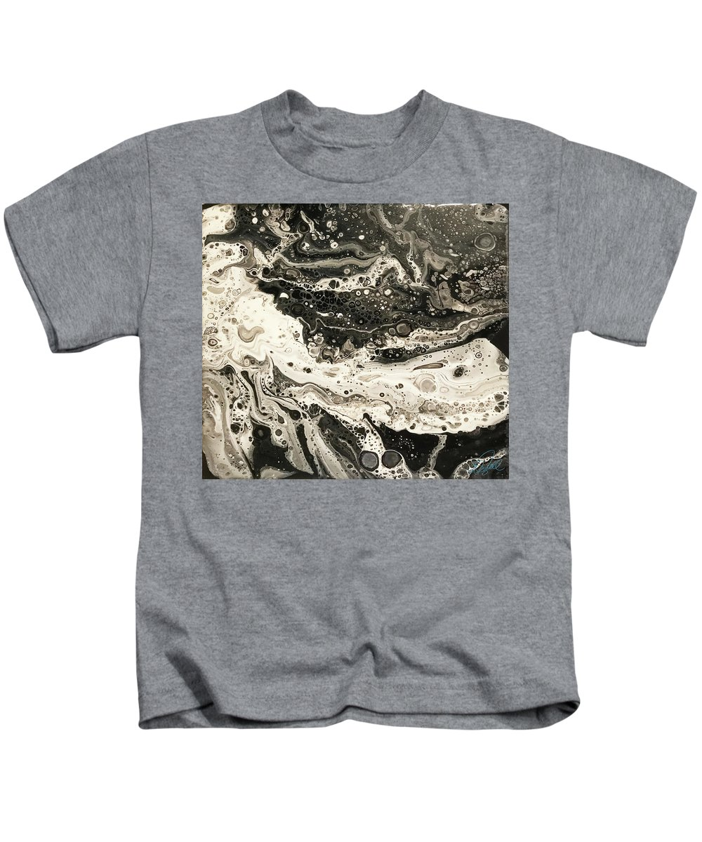 Jim Kids T-Shirt featuring the painting Jim's Lament Right by William Gambill