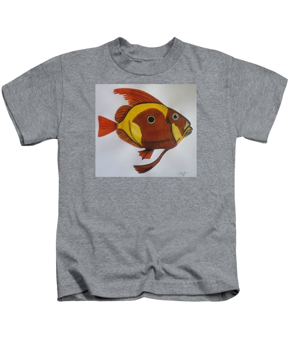 John Dory Kids T-Shirt featuring the painting John Dory by Joan Stratton