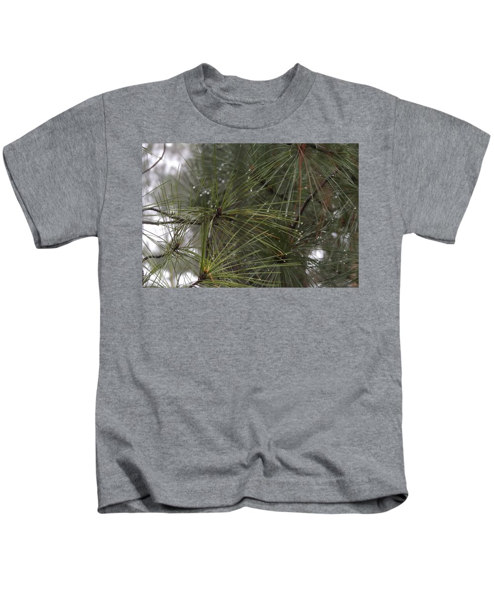 Rain Drops Kids T-Shirt featuring the photograph Just After The Rain 2 by FD Brake