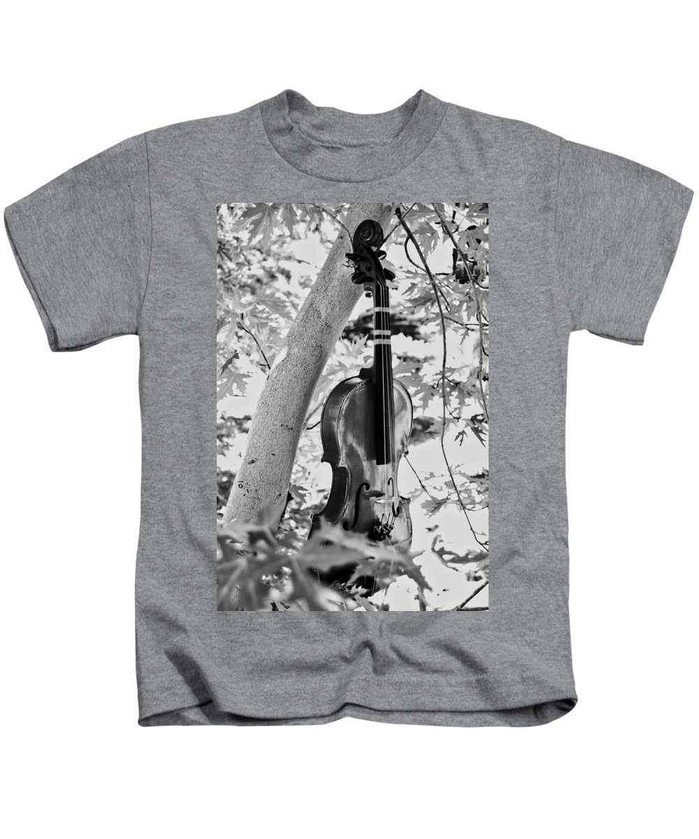 Tree Kids T-Shirt featuring the photograph Just Hanging Out by Douglas Craig