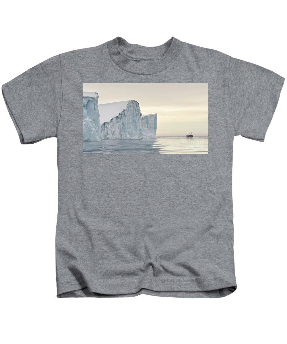 Greenland Kids T-Shirt featuring the photograph Kangerlua by Janet Burdon
