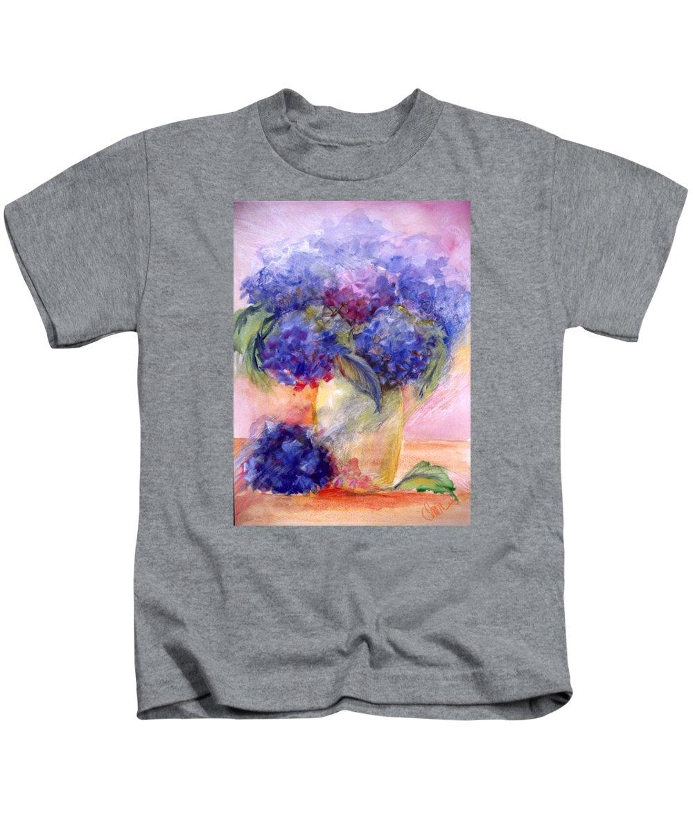 Hydrangeas Kids T-Shirt featuring the photograph Katherine's Hydrangeas by Christine Cousart
