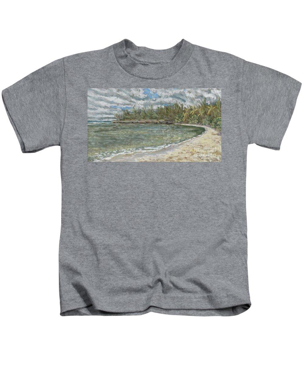 Art Kids T-Shirt featuring the pastel Kawela Bay by Patti Bruce - Printscapes