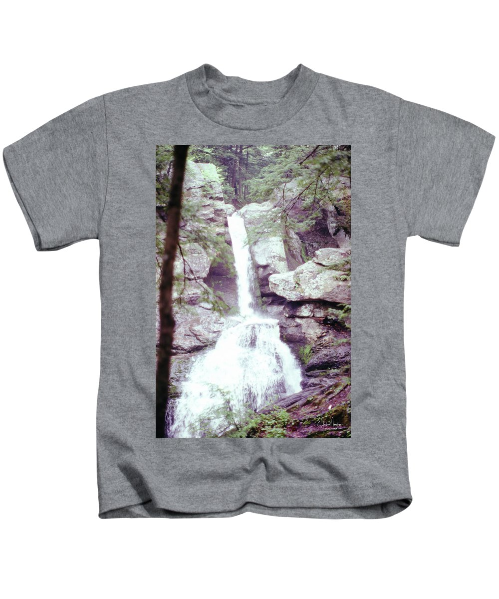 Kent Falls Kids T-Shirt featuring the photograph Kent Falls 3 by Gordon Mooneyhan