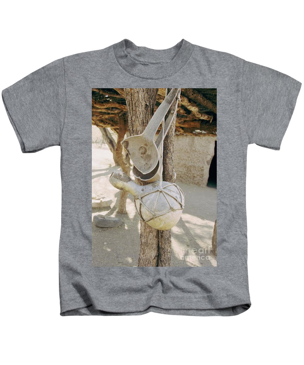 Tumacacori Kids T-Shirt featuring the photograph Kitchen Utensils by Kathy McClure