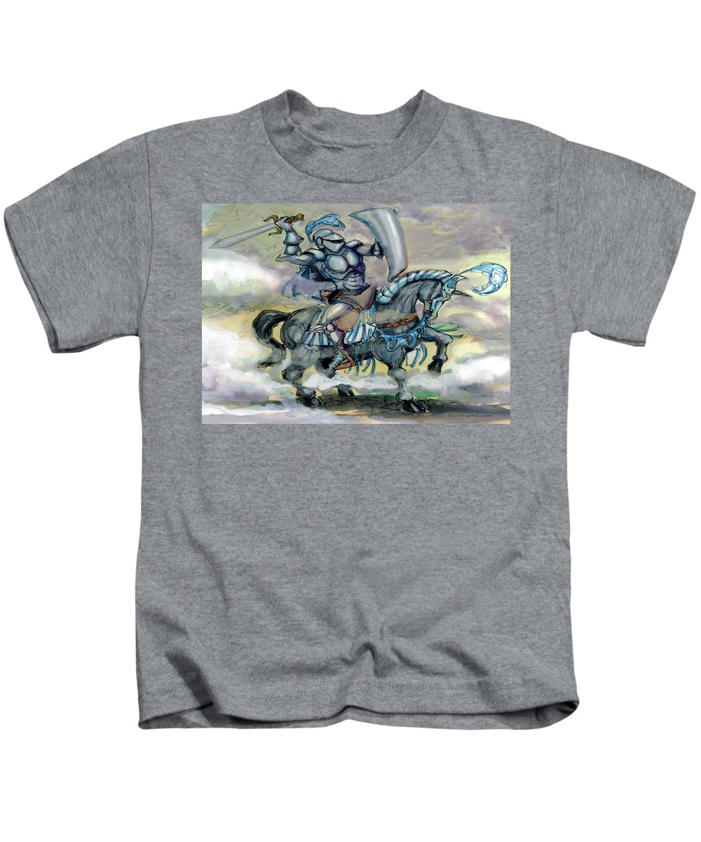 Knight Kids T-Shirt featuring the greeting card Knight by Kevin Middleton