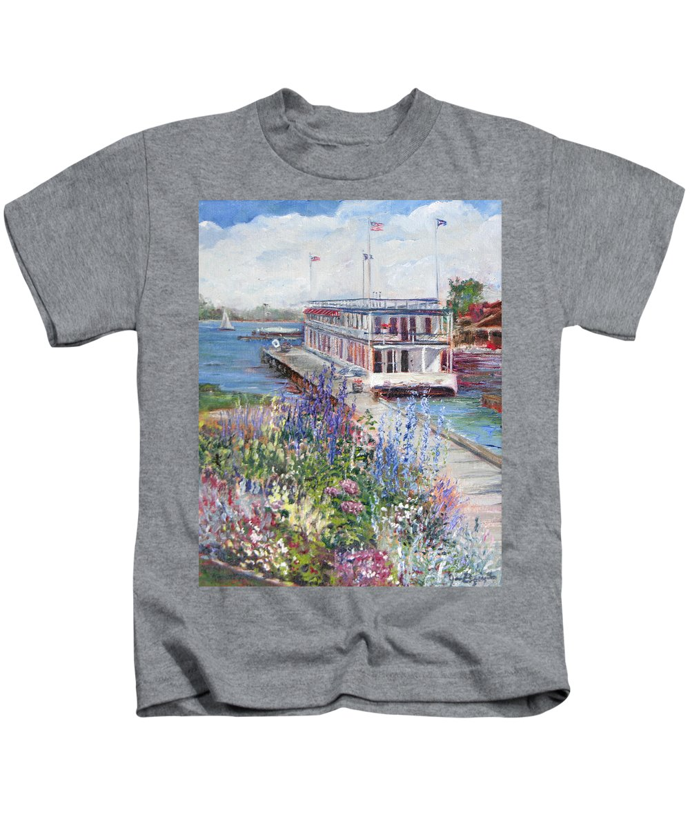 Nautical Kids T-Shirt featuring the painting La Duchesse by Jan Byington