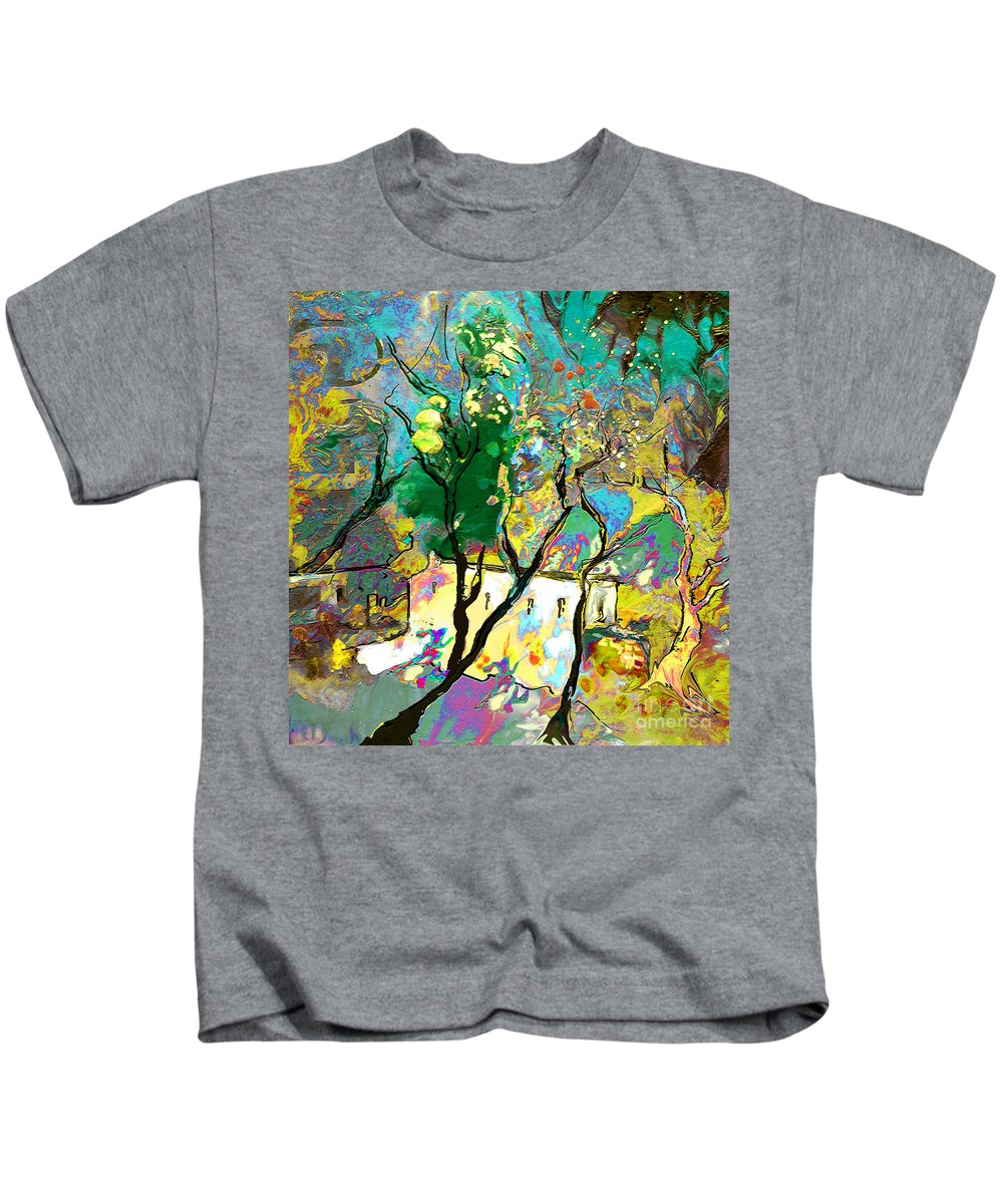 Miki Kids T-Shirt featuring the painting La Provence 16 by Miki De Goodaboom