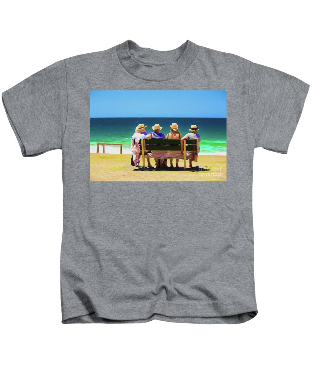 Ladies In Hats Kids T-Shirt featuring the photograph Ladies day out by Sheila Smart Fine Art Photography