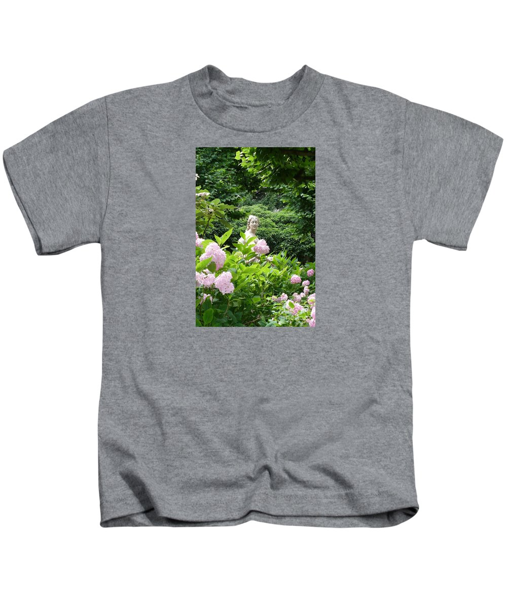 Garden Kids T-Shirt featuring the photograph Lady In Salzburg Garden by Carol Groenen