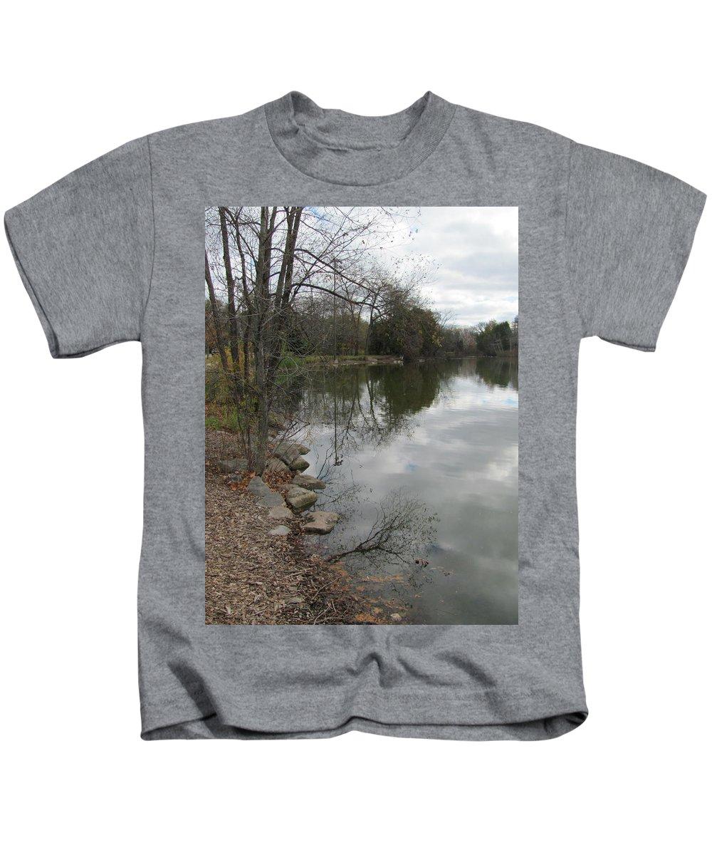 Lagoon Kids T-Shirt featuring the photograph Lagoon Reflections 3 by Anita Burgermeister