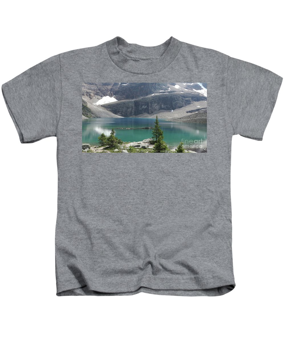 Lake Kids T-Shirt featuring the painting Lake #7 4k by VR Project Art