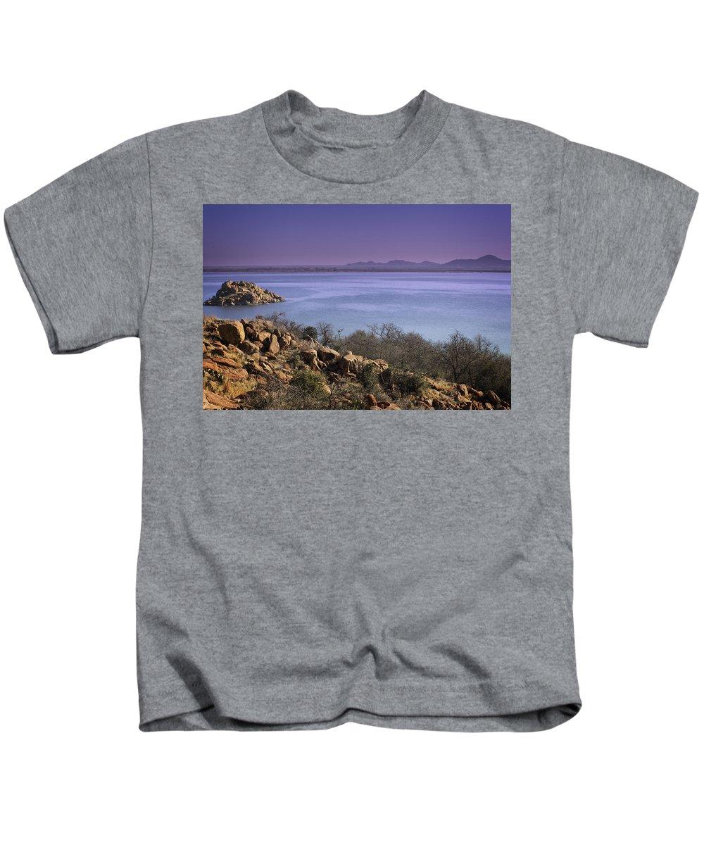 Lake Kids T-Shirt featuring the photograph Lake Altus Lugert by Ricky Barnard