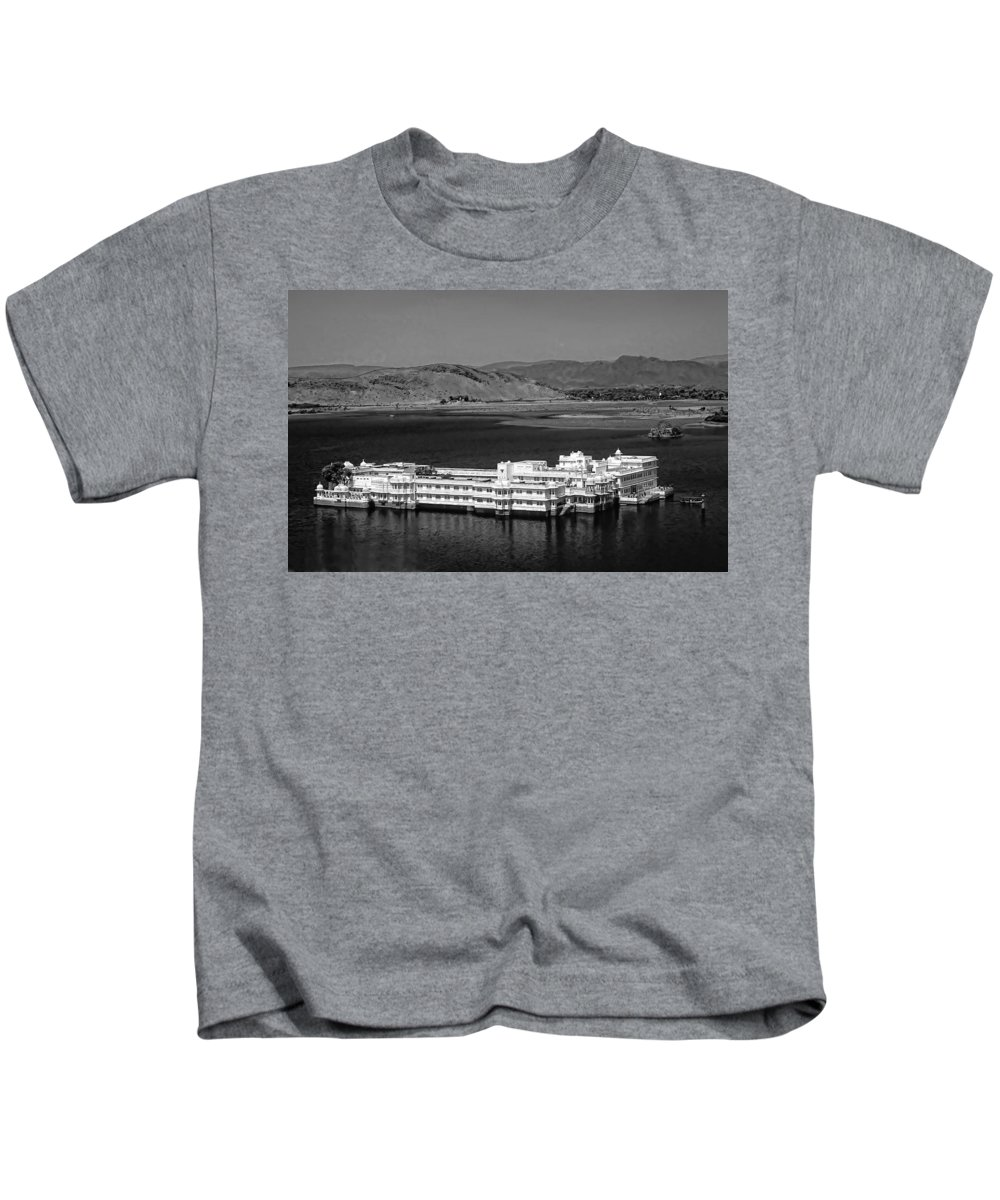 Hotel Kids T-Shirt featuring the photograph Lake Palace Hotel by Steve Harrington